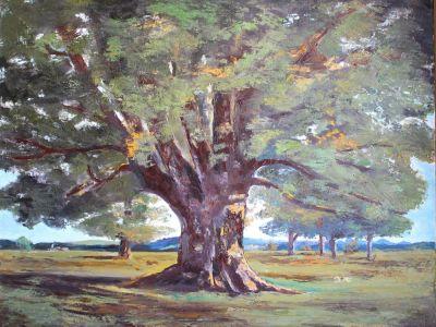 Le Chêne de Flagey Copie de COURBET