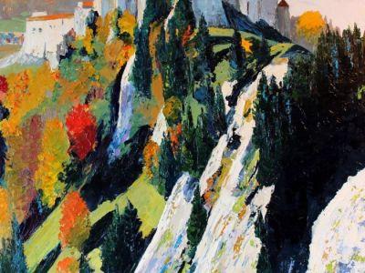Le château de Joux  en automne